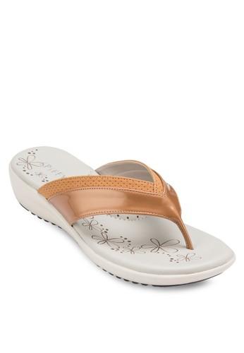 夾腳厚底楔型拖鞋,esprit tw 女鞋, 涼鞋