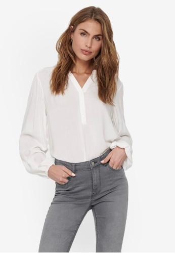 JACQUELINE DE YONG white Marlon Woven Shirt FE237AAB5FE76FGS_1