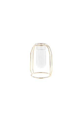 DILAS HOME gold Test Tube Metallic Vase (Gold) - Short F70FFHL83135D3GS_1