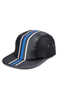 Cobalt Stripe PU Cap