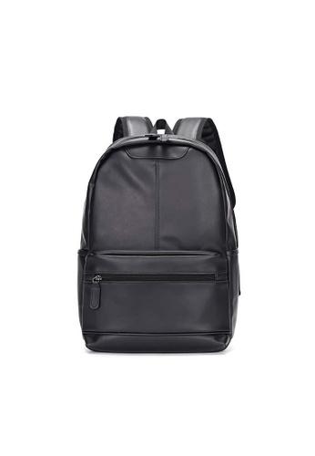 Lara 黑色 男士筆記本電腦背包書包旅行休閒包背包 - 黑色 5EA53ACF875871GS_1