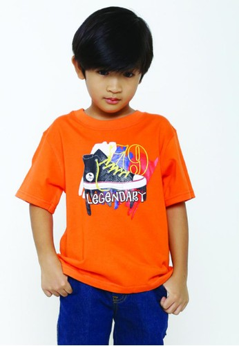 YEGE orange YeGe T'shirt Anak Polos D9106KA8D24F12GS_1