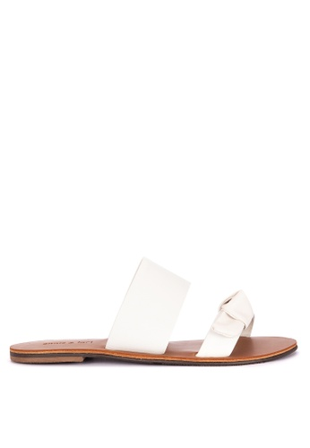 Annie & Lori white Ribbon Flat Slides 2ED7ESH1197E72GS_1