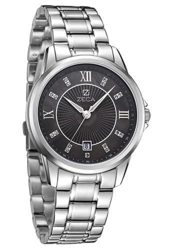 Zeca Jam Tangan Pria 308M - Silver Hitam - Stainless Steel