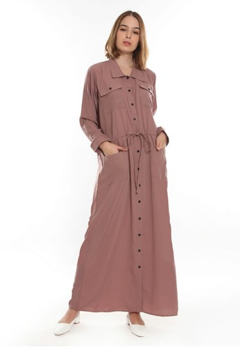 L THE LABEL brown Robe With Pockets - Chocolate 83968AAB35829DGS_1
