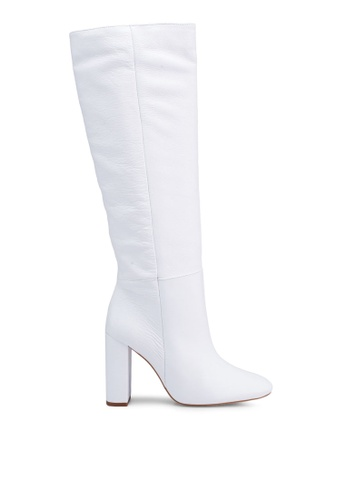bc7d6dbf28887 Mango white Leather High-Leg Boots C2AB9SH1418C43GS 1. CLICK TO ZOOM. Other  colors available