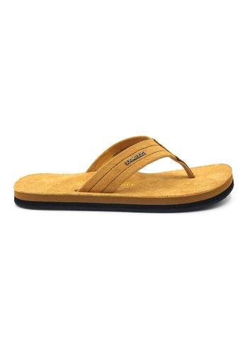 SoleSimple brown York - Whisky Leather Sandals & Flip Flops FF802SH8FF2D05GS_1