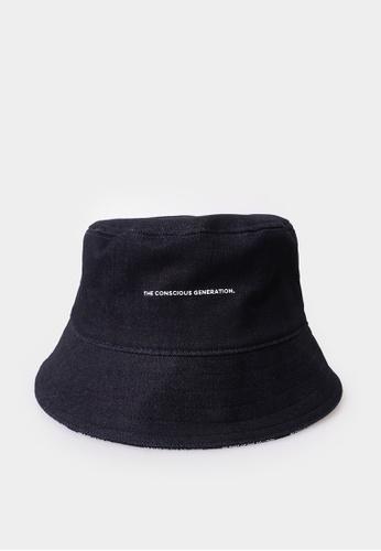 Penshoppe blue The Conscious Generation Denim Bucket Hat AB762AC88E1C00GS_1