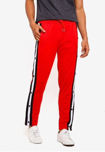 Brave Soul red Snap Joggers 7EA64AA868FDCCGS_1