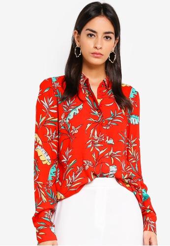 Vero Moda beige Frida Palm Shirt BBD36AA041AF9DGS_1
