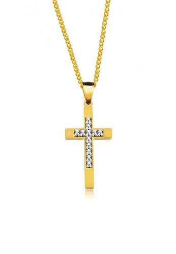ADORA Stainless Steel Cross Pendent Necklace AD365AC2VVWPHK_1