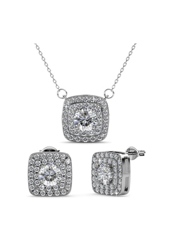 Her Jewellery silver Simone Set with Premium Grade Crystals from Austria 36288AC283237FGS_1