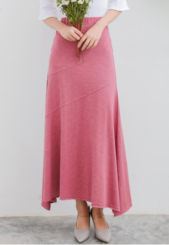 Shopsfashion red Maxi Skirt in Red Violet SH656AA44PDFSG_1