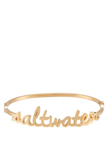Saltwater 立體文字金屬手鐲, 飾品配件, 飾品配esprit童裝門市件