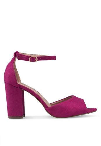 Carlton London 粉紅色 麂皮高跟鞋 509B0SHCE90301GS_1