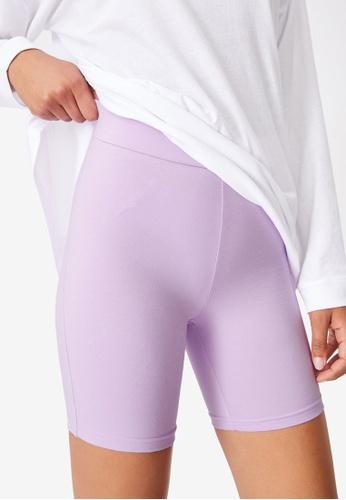 Cotton On purple The Pip Jersey Bike Shorts 50074AA65BEABAGS_1