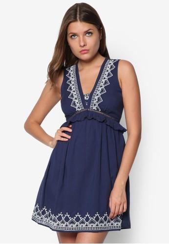 Petite 刺繡荷葉飾洋裝, 服飾,esprit台灣 洋裝
