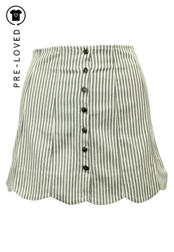 Reformation white Pre-Loved reformation Striped Mini Skirt with Buttons FD3EEAA2A13566GS_1