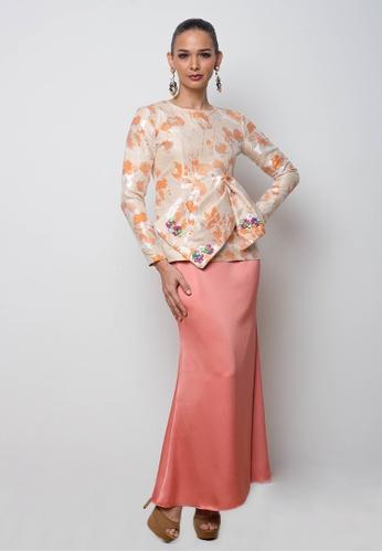 Ilima Kurung in Orange from Blubelle in Orange