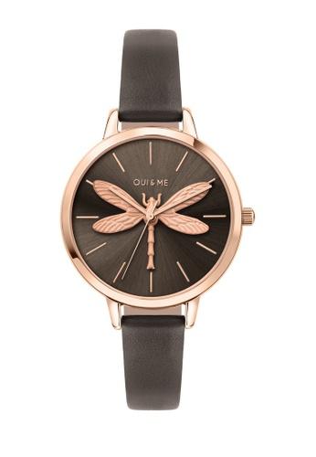 Oui & Me grey OUI&ME Amourette Quartz Watch Grey Leather Strap ME010074 8057EACE0549F2GS_1