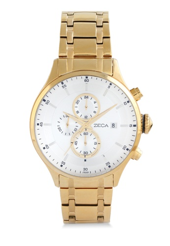 ZECA gold Zeca Watches Couple Mens Fashion Stainless Steel Analog - 3006M Gold D1433AC2297CBFGS_1