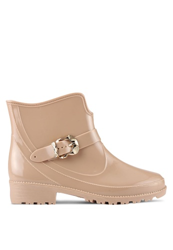 Twenty Eight Shoes beige Buckle Ankle Rain Boots TW281SH0RLUKMY_1