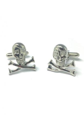 Splice Cufflinks silver Silver Danger Skull Cufflinks   SP744AC81DSOSG_1