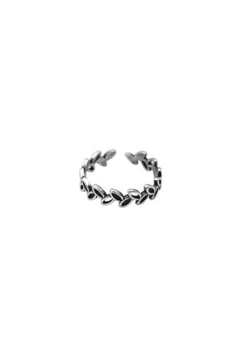 LYCKA silver LDR1324 S925 Silver Vintage Leaves Ring BCDFFAC292BCB5GS_1
