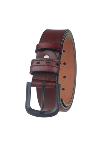 FANYU brown Men Genuine Leather Belt Brown FA549AC28BFNSG_1