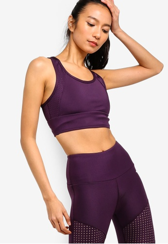 Running Bare purple Allure Extended Crop Top With Arrow Back 3E800USC4AD0E7GS_1