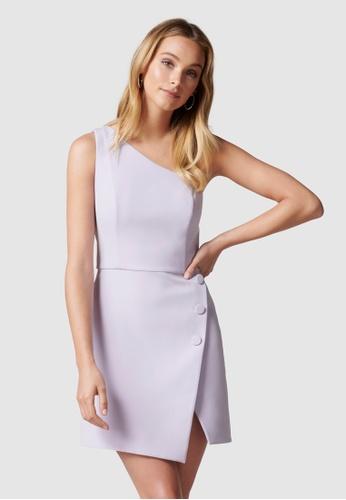 Forever New purple Dianne One Shoulder Mini Dress 08B83AA5FEAC16GS_1