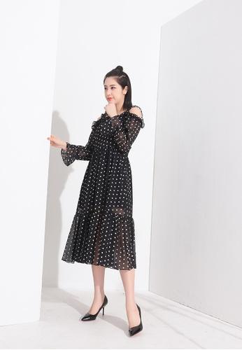 Zafiti multi Black Polka Dot Print Dress C0947AA3802E04GS_1