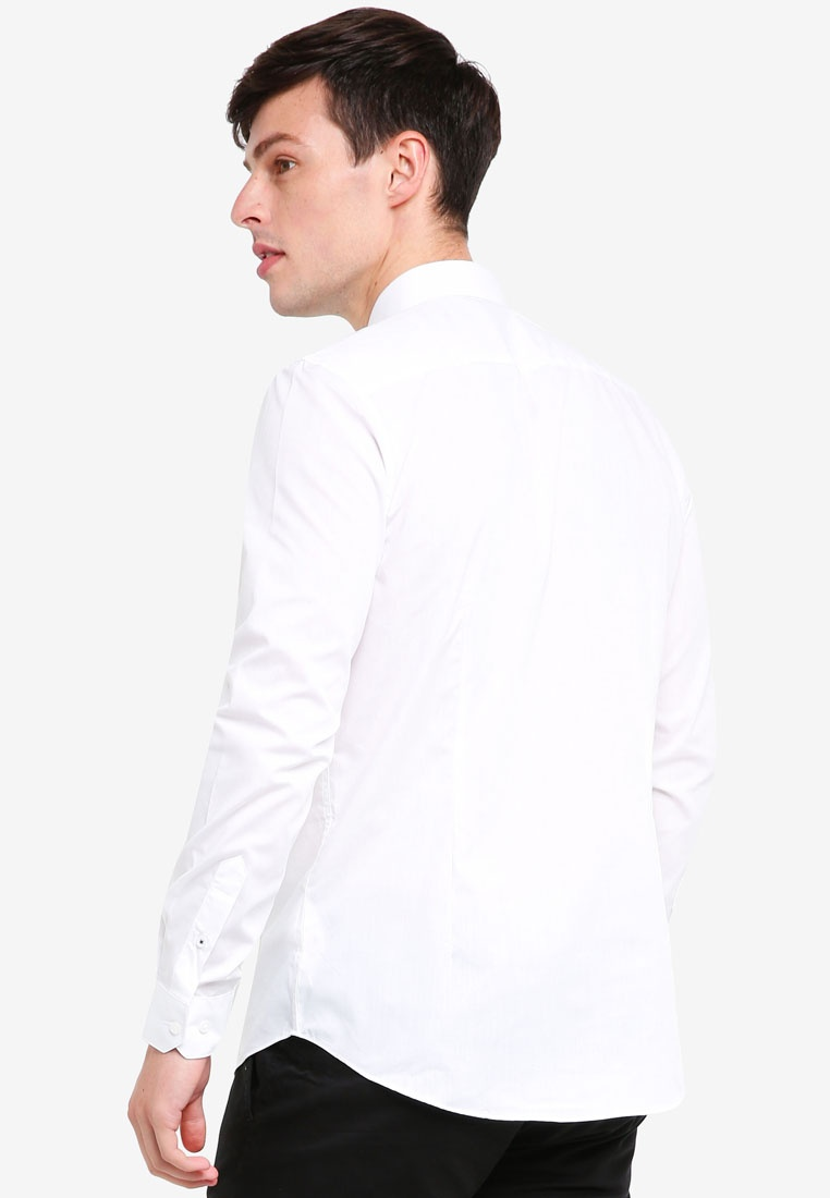 Pack Burton Fit Easy Iron Menswear London 2 Slim White White Shirts dt0xn7nqOw