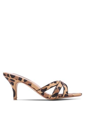 Nose brown Animal Print Heel Slides NO327SH0S6TUMY_1