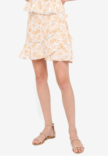 Mink Pink white and yellow Kiss The Stars Mini Skirt 2981BAA312FB5BGS_1