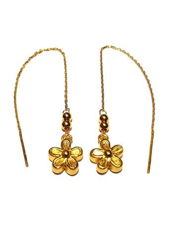 LITZ gold LITZ JINXI 999(24K) Gold Flower Earrings 097E2AC93DE549GS_1