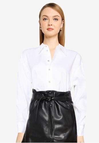 Mango 白色 Buttoned Cotton Shirt 27B79AA9F48039GS_1