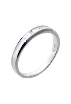Sweetheart Silver Ring with Artificial Diamond for Women lr0019f
