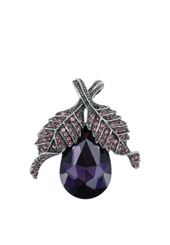 Red's Revenge purple Gemstone Floral Diamante Brooch F59D8ACFB548C9GS_1
