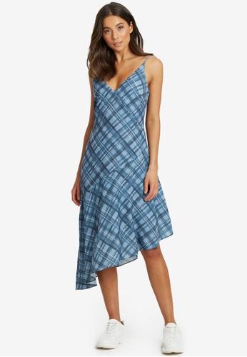 Calli blue Elkisa Drape Dress C6802AAA3A98A8GS_1