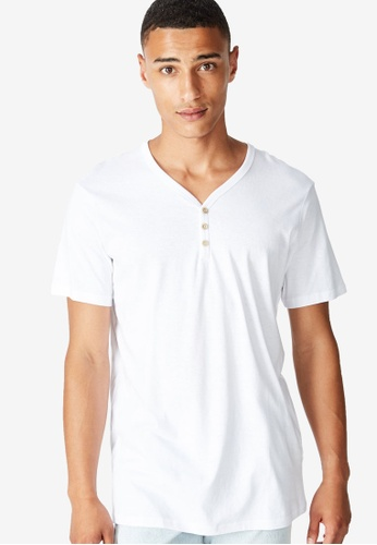 Cotton On white The Other Henley Tee CO372AA0RI04MY_1