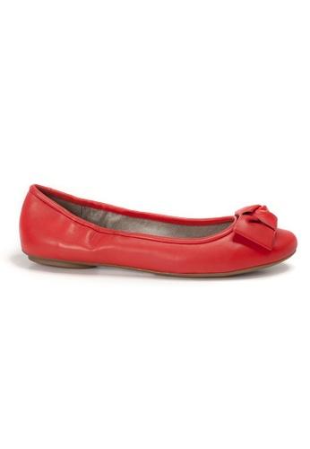 Shu Talk orange AMAZTEP NEW Comfy Sole Nappa Leather BOW Ballerina Ballet Flats 962BBSH10ED76AGS_1