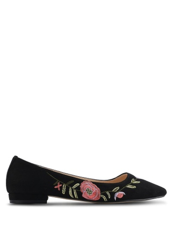 ZALORA black Floral Embroidered Ballerinas 820EFSH6CF5CE3GS_1