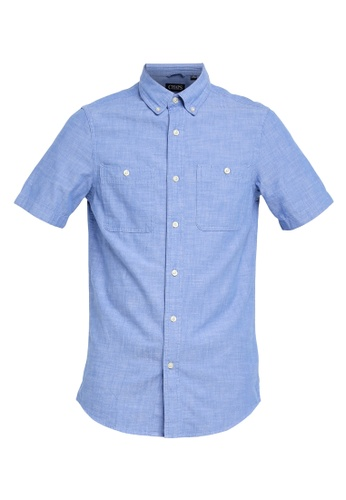 ae26379f Chaps Short Sleeve Chambray Sport Shirt