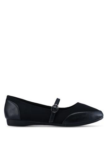 Louis Cuppers 黑色 瑪莉珍平底鞋 AA244SH20E1D19GS_1