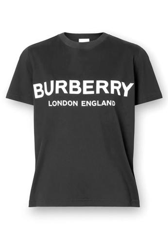 Burberry black Burberry Logo Print T-Shirt in Black E3CC2AAE5A68F4GS_1