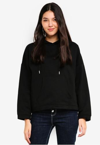 ONLY black Marbella Loose Hooded Sweater 4B9C7AAED0769CGS_1