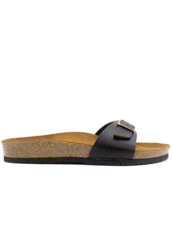 SoleSimple 黑色 Lyon - 黑色 百搭/搭帶 軟木涼鞋 17EB4SH6E375D6GS_1