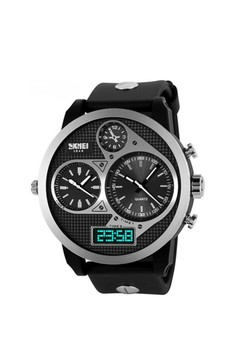 50M Waterproof Dual Mode Three Time Zone Watch