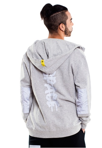 Reoparudo grey RPD Reflective Cross Space Edition Zip Hoodie (Grey) RE413AA0GZKUSG_1